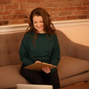 woman doing online consultation